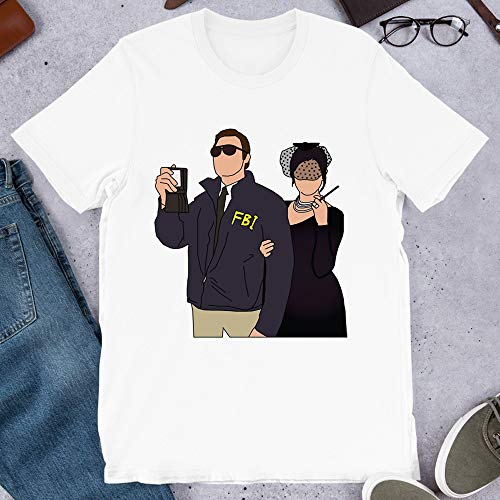 Burt Macklin & Janet Snakehole Andy Dwyer April Ludgate Parks and Rec Movie Vintage Gift Men Women Girls Unisex T-Shirt (White-XL)