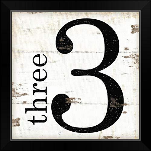 "CANVAS ON DEMAND Farmhouse Three 3"" Black Framed Art Print, 19""x19""x1"""