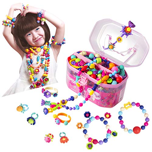 Pop Beads, Jewelry Making Kit – Arts and Crafts for Girls Age 3, 4, 5, 6, 7 Year Old Kids Toys – Hairband Necklace…