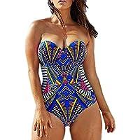 Women's Plus Size Pro Athletic One Piece Blouson Tankini Sporty Swimsuits Backless Swimwear Slimming Bathing Suit