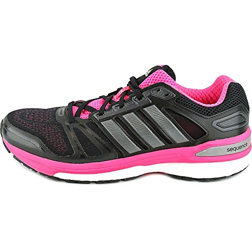 Adidas Supernova Sequence 7 Funcionamiento para mujer del zapato 5.5 flash rosado-blanco-noche flash Black/pink