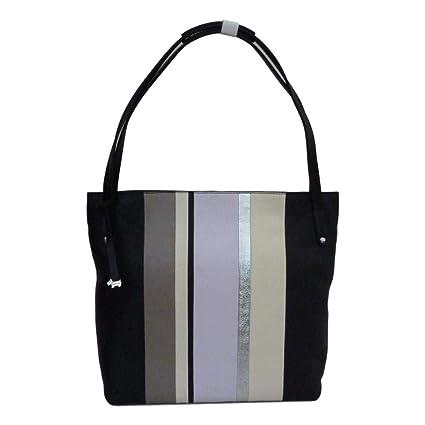 3b6f980f48c Radley Penhurst Large Striped Zip Top Shoulder Bag - LARGE, BLACK   Amazon.co.uk  Luggage
