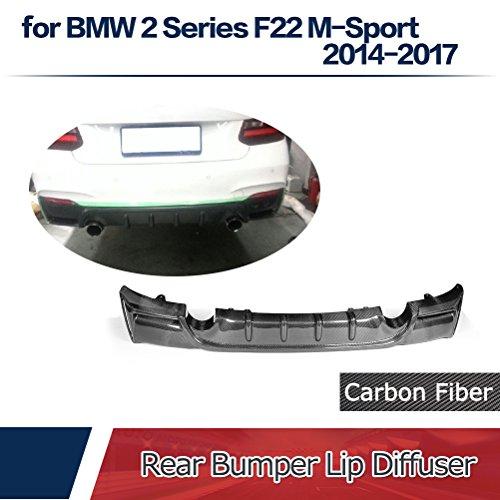 jcsportline for BMW 2 Series F22 M-Sport 220i 230i 235i 228i M235i 2014-2017 Carbon Fiber Rear Bumper Lip Diffuser