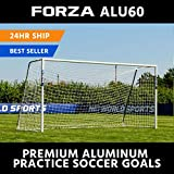 Cheap Forza Alu60 Soccer Goal – Club Spec Aluminum Soccer Goal (Choose Your Size 6ft x 4ft -> 24ft x 8ft) Long-Lasting and Weather-Resistant Alu60 Soccer Goals [Net World Sports] (21ft x 7ft)