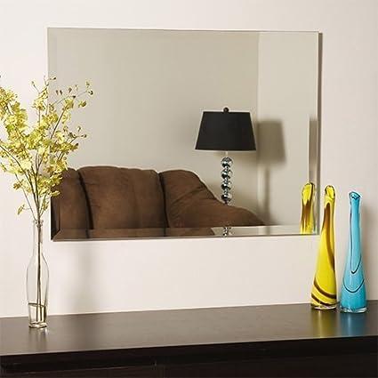 Quality Glass Frameless Decorative Mirror | Mirror Glass for Wall | Mirror for bathrooms | Mirror in Home | Mirror Decor | Mirror Size : 18 inch x 24(QG-FL-005)