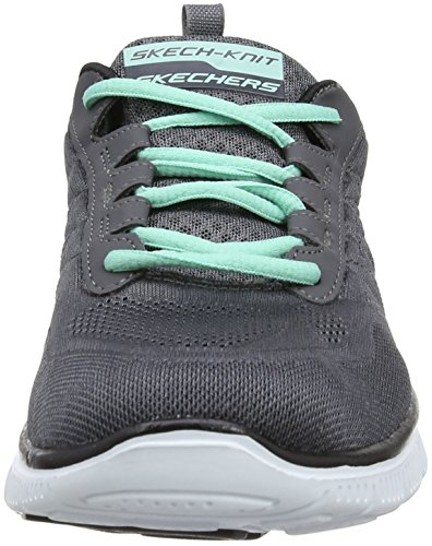 Skechers nbsp;–Flex Appeal Sweet Spot - Baskets running pour femme Gris (Ccbk) nXEzPv