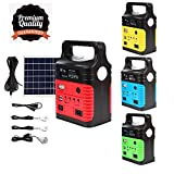 UPEOR Solar Generator Lighting System Portable Solar Power Generator Kit for Emergency Power Supply,Home & Outdoor Camping,Including MP3&FM Radio,Solar Panel,3 Sets LED Lights