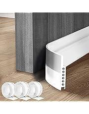 """3 Pack Door Draft Stopper Under Door Seal for Exterior/Interior Doors, Strong Adhesive Door Sweep Soundproof Weather Stripping, 1.18"""" W x 39"""" L, White"""