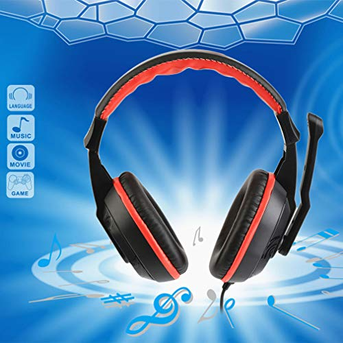 Price comparison product image MTOFAGF 3.5mm Gaming Stereo Headset Earphone Headphones for Xiaomi MP3 MP4 Mic PC Computer Laptop Auriculare MTOFAGF Brings You The Best (Color : Red,  Size : 122±3dB)