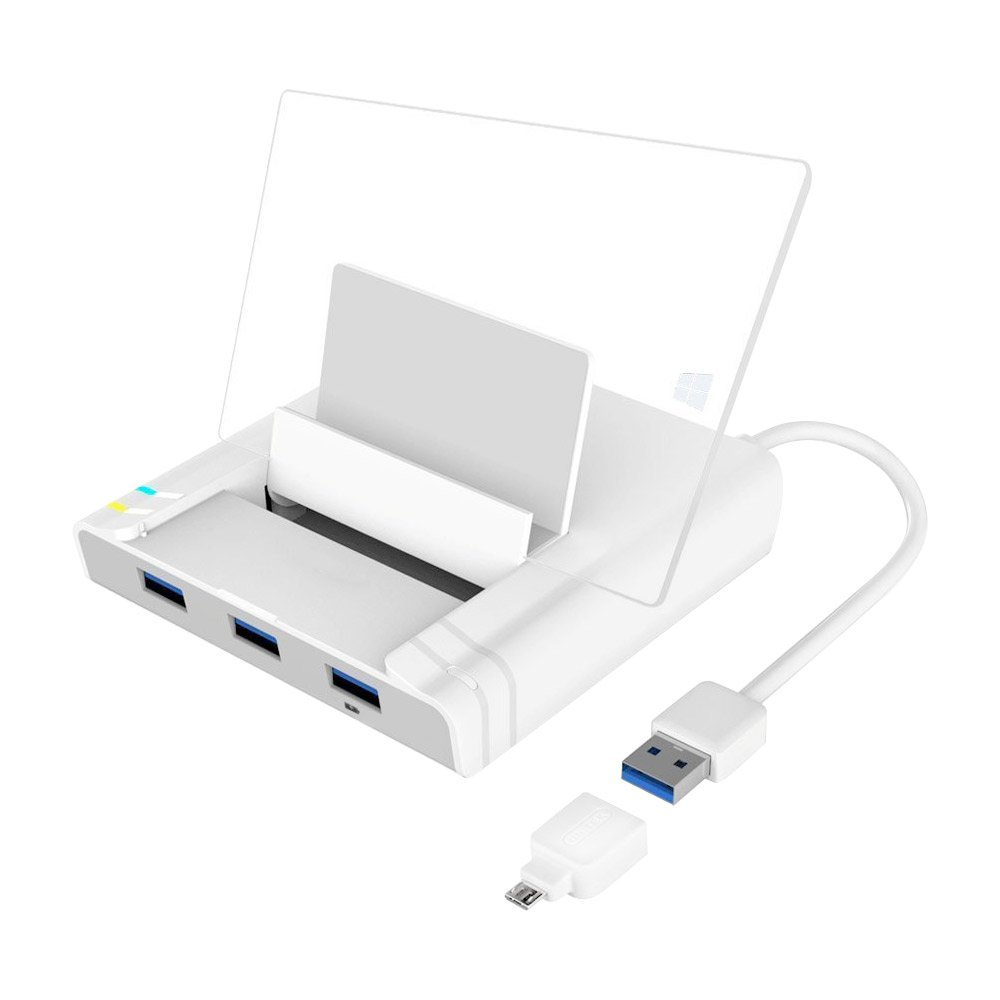 Unitek USB 3.0 3 Port Hub + Docking Station + OTG Adapter + RJ45 10/100/1000 Gigabit Ethernet Adapter for Windows Android Tablet, Smartphone Ultrabook