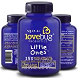 Cheap LoveBug Little Ones Probiotics for Kids, 60 Easy-to-Swallow Spheres, Childrens Probiotics Supplement for Children Ages 4 and Up – Recommended
