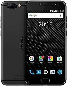 Ulefone T1-5,5 Pulgadas FHD 4G versión Global Android 7.0 Smartphone, Helio P25 CPU Octa Core 2.6GHz, 6GB RAM + 64GB ROM, Triple cámaras (13MP + 5MP + 16MP), GPS: Amazon.es: Electrónica