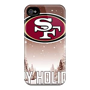 JohnPrimeauMaurice Iphone 4/4s Anti-Scratch Cell-phone Hard Cover Allow Personal Design Nice San Francisco 49ers Pattern [fjv15542SgXi]