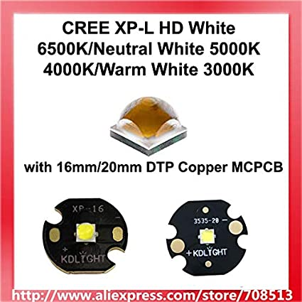 Amazon.com: Jammas CREE XP-L HD White 6500K/Neutral White ...