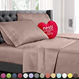 Bed Sheet Bedding Set, 100% Soft Brushed Microfiber with Deep Pocket Fitted Sheet - CAL KING - TAUPE - 1800 Luxury Bedding Collection, Hypoallergenic & Wrinkle Free Bedroom Linen Set