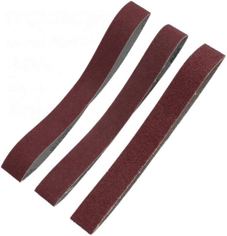 MJIKOO Alumina Abrasive Belt Sanding Band Grinding Polishing Sandpaper Straps 53330 10pcs,100 Grit