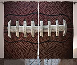Ambesonne Sports Decor Collection, American Football Themed Fun Traditional  Sport Close Up Photo Pattern, ...