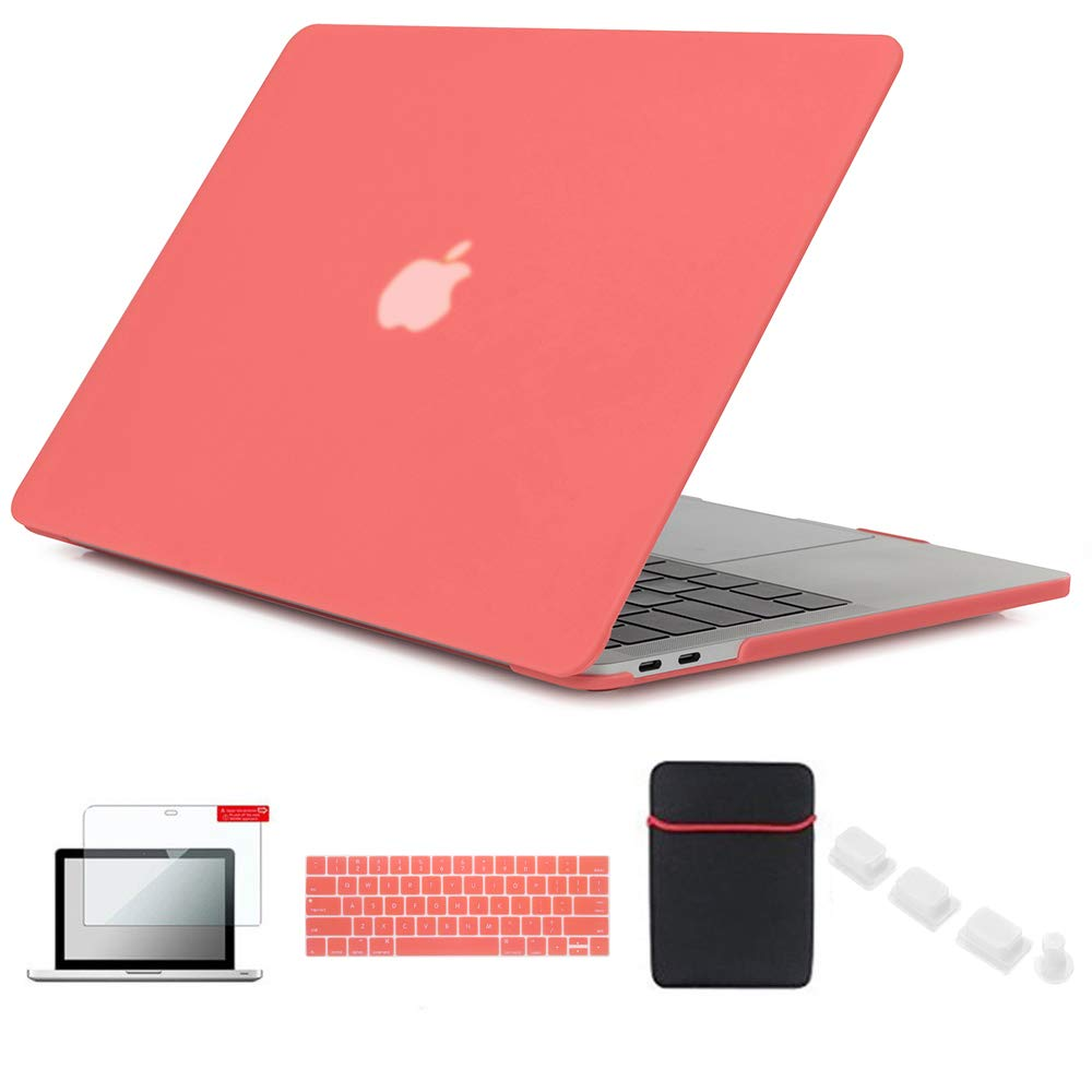 Se7enline Macbook Pro A1708/A1706/A1989 Case Matte Plastic Hard Laptop  Cover for MacBook Pro 13 with/without Touch Bar 2016-2019 with Sleeve