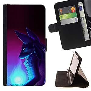 - GODDESS ART FOX EGYPT ANCIENT WIZZARD - - Prima caja de la PU billetera de cuero con ranuras para tarjetas, efectivo desmontable correa para l Funny HouseFOR Apple Iphone 6