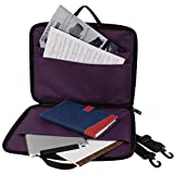 Pro Tec P5PR Sheet Music Portfolio Bag with Shoulder Strap, Purple