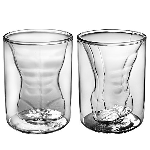 Dual Walled Sexy Men Borosilicate Tumbler Glass Gift - Cheap Whiskey Glasses