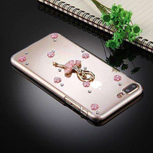 MXNET Iphone 7 Plus Fall, Diamant verkrustete Tanzen-Mädchen-Muster-schützende rückseitige Abdeckungs-Fall CASE FÜR IPHONE 7 PLUS ( SKU : Ip7p2980c )