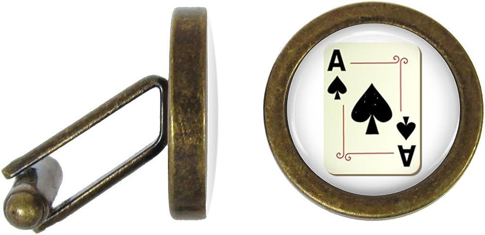 Ace of Spades Cufflinks Solid Bronze