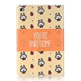 Businda Folio Case with PU Leather Auto Wake/Sleep Flip Folio Stand Smart Cover for Apple Tablet (2015 Release) 7.9 Inch,Small Rabbit