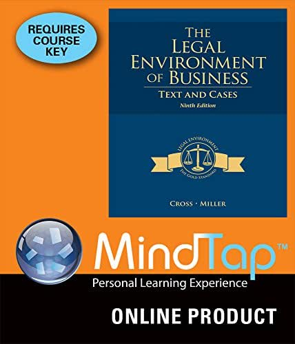Amazon.com: MindTap Business Law for Cross/Miller's The Legal ...