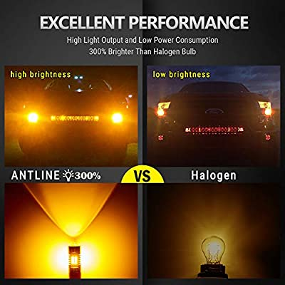ANTLINE Extremely Bright 3157 3156 3057 4057 4157 3157A 3157K 3457 21-SMD 1260 Lumens LED Bulb Replacement White for Car Backup Reverse Brake Tail Turn Signal Lights Bulbs DRL Pack of 4