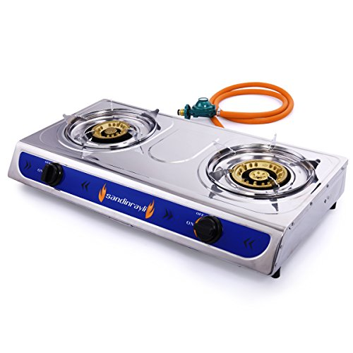 LAZYMOON GS213 Propane Gas Burner Portable Stainless Camping Stove by LAZYMOON
