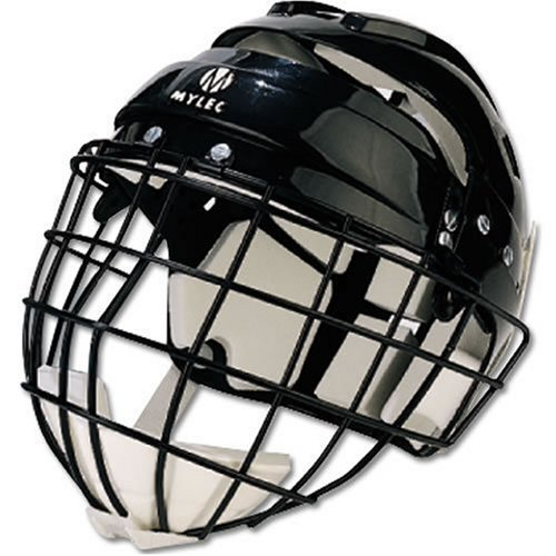 Mylec Jr. Helmet with Wire Face Guard, Black (Renewed)