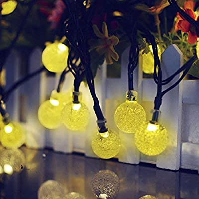 Binval Solar String Lights 30 Led Crystal Ball String Lights Waterproof Fairy Lighting for Home, Outdoor, Patio, Landscape, Holiday Decorations(Warm White) : Garden & Outdoor