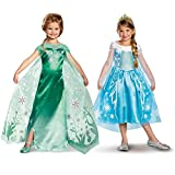 Disney Frozen Elsa Costume Bundle Set - Child Large Frozen Fever and Deluxe Costumes