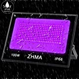 ZHMA 100W UV LED Black Light,IP66 Waterproof UV