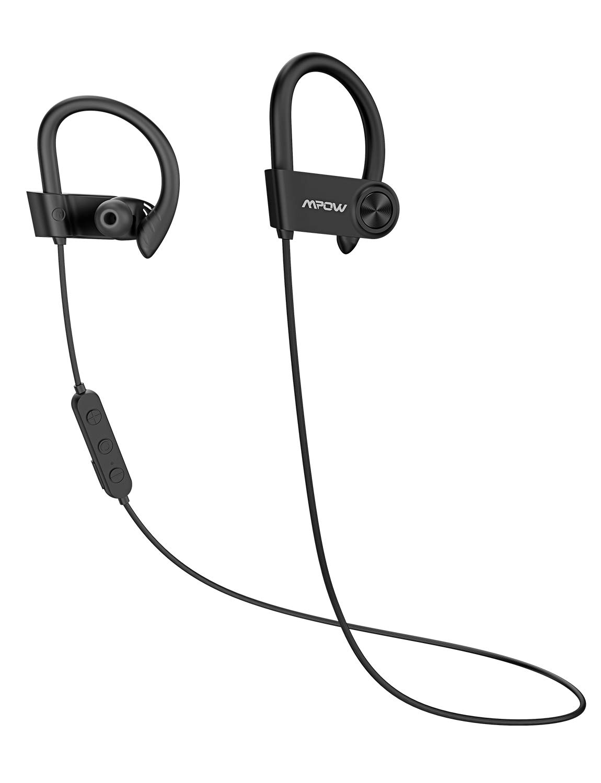 Mpow D9 Bluetooth Sport-Kopfhörer mit 16 Stunden Laufzeit, Bluetooth 5.0/ AptX HD-Technologie/ IPX7 Wasserdicht, Sportkopfhörer Joggen/Laufen mit MEMS-Mikrofon für iPhone Android