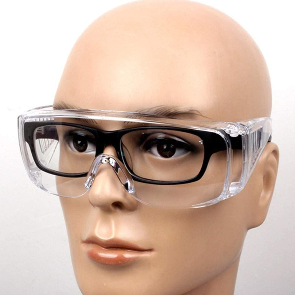 Laboratory Chemistry Class Eyewear Glasses PPE Clear Eyewear Protection Flyalone⭐ Safety Glasses Personal Protective Equipment for Construction Vented Sides ANSI Z87+ Standards High Impact