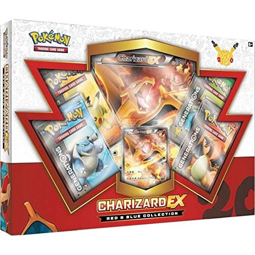 TCG: Charizard-EX Collection Card Game, Red/Blue (Discontinued by manufacturer) (Pokemon Generation)