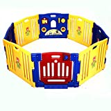 8 Panel Safety Baby Playpen Kids Indoor/Outdoor Play Center With Ebook