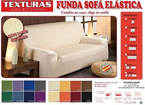 Funda de Sofá Elástica TEXTURAS SELECTION TÚNEZ (Varios tamaños disponibles)  (3 PLAZAS (180-240) , BURDEOS)