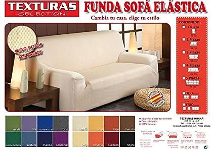 Funda de Sofá Elástica TEXTURAS SELECTION TÚNEZ (Varios tamaños disponibles)  (3 PLAZAS (180-240) , TEJA)