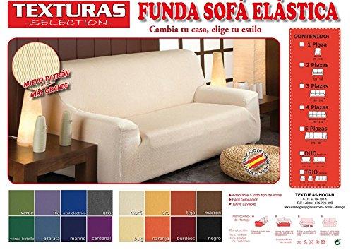 Funda de Sofá Elástica TEXTURAS SELECTION TÚNEZ (Varios tamaños disponibles)  (2 PLAZAS (120-190) , MARFIL)