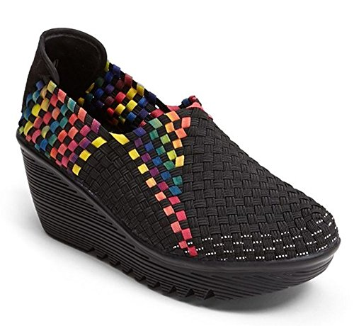 Bernie Mev Women's Gem Wedge Pump Black Multi