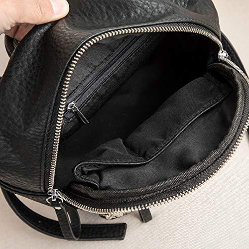 Spalla Zaini Qhorse Scuola Casual Bambine Personaggi Backpack Pelle Nero2 Zainetti Classica Leggero Borsetta Pratico Stampa Borse 6wp8gqn6