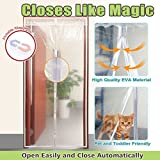 """Linkhome® Transparent Magnetic Screen Door 34""""×82"""" Curtain Prevent Air Conditioning Loss Help Saving Electricity & Money,Enjoy Warm Winter,Thermal and Insul"""