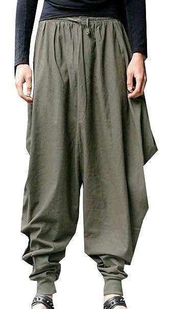 Generic Mens Stripe Cotton Baggy Boho Aladdin Hippie Yoga ...