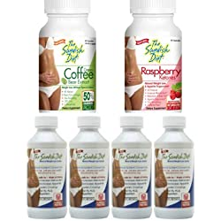 The Swedish Diet 1 MONTH WEIGHT LOSS PROGRAM, 18 ounces: 4 bottles of THE SWEDISH DIET, 1 bottle of GREEN COFFEE bean extract, 1 bottle of RASPBERRY KETONES for SAFE & EFFECTIVE WEIGHT LOSS