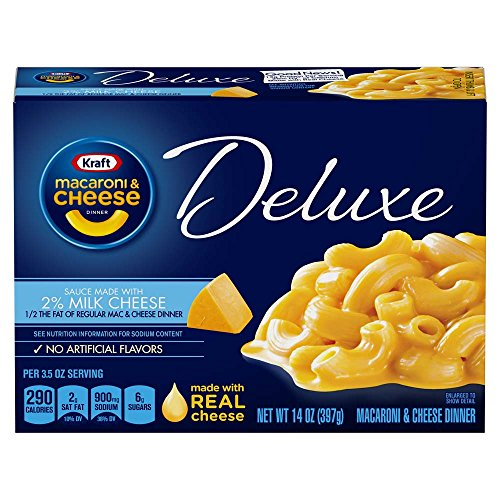 Kraft Deluxe Macaroni & Cheese Dinner (14 oz Boxes, Pack of - Deluxe Elbows Creamy