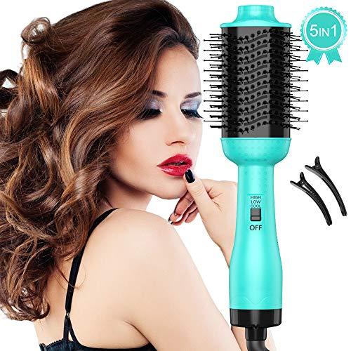 5 In 1 Warmluftbürste Fönbürste One Step Haartrockner Heißluftbürste, multifunktionale Hairstyler Volumizer Styler Stylingbürsten mit negativen Lonen