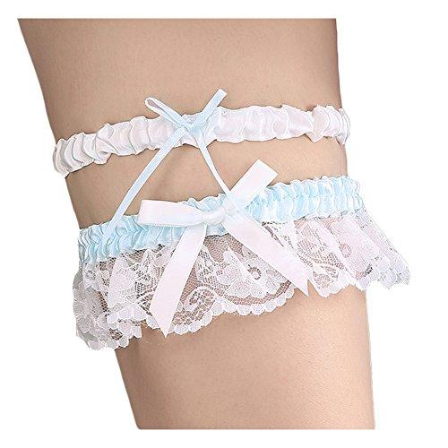 Bueer Keepsake Toss Tradition Wedding Bridal Lace Garter Set,2 pc (Toss Garter Set)